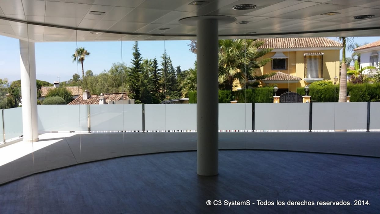 Cerramiento Seeglass Fix de Ayuso Euro Systems Moderno Aluminio/Cinc