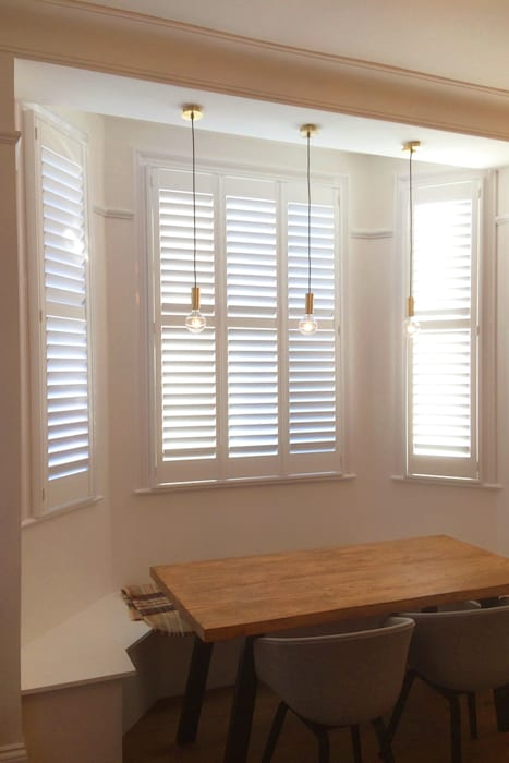Dining Room Shutters For Bay Windows