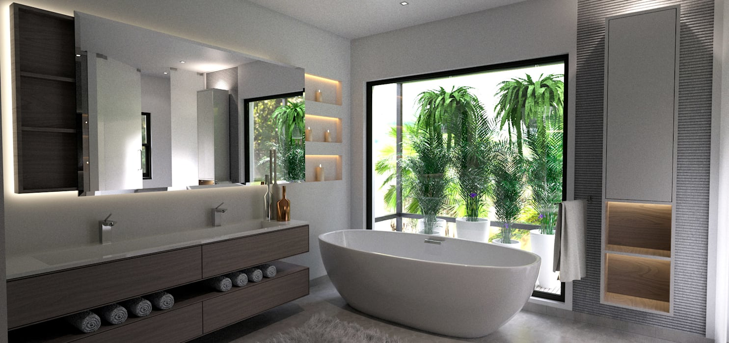 House St Andrews:  Bathroom by Principia Design