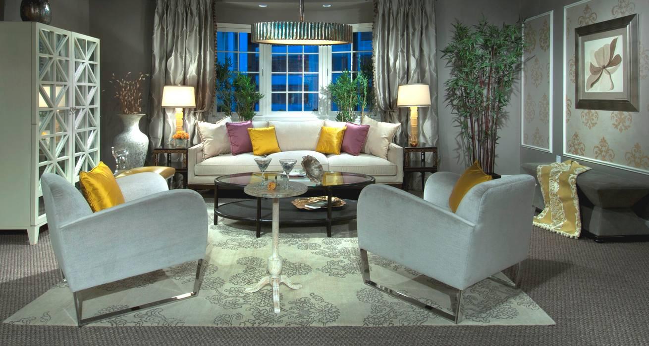 Lorna Gross Interior Design Ruang Keluarga Modern Grey