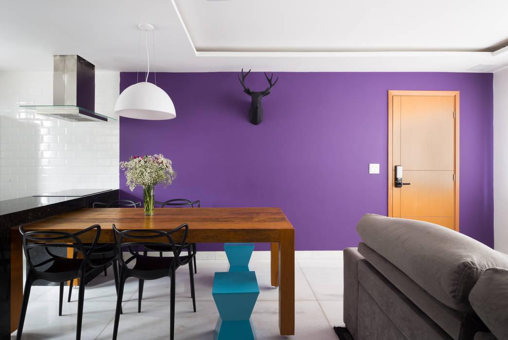 Apartamento Santa Efigênia: Salas de estar  por Daniel Carvalho Arquiteto,Escandinavo