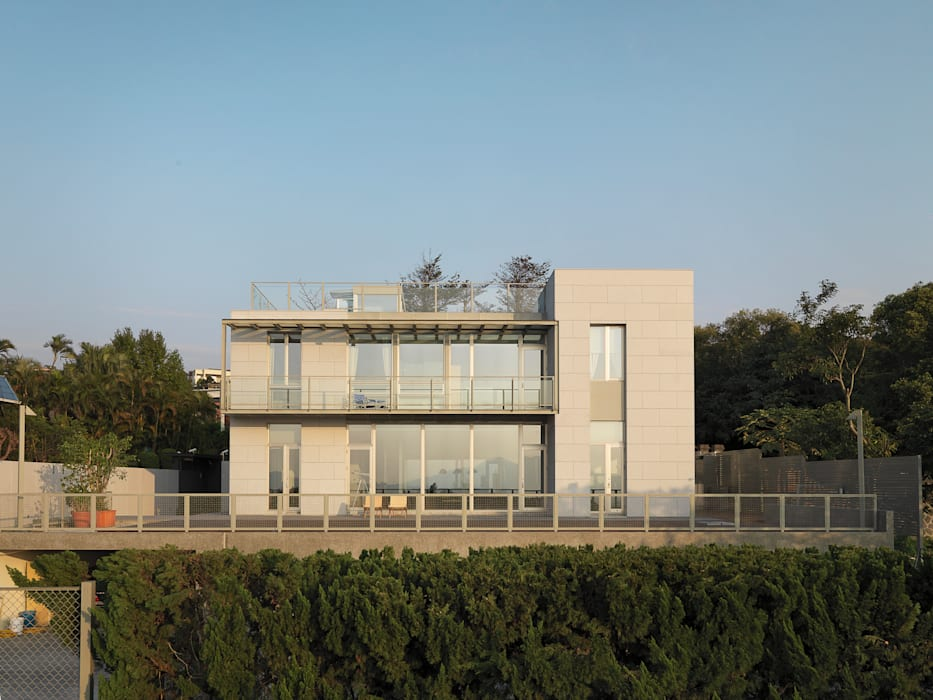 莊宅 House C, Taipei 何侯設計 Ho + Hou Studio Architects 現代房屋設計點子、靈感 & 圖片