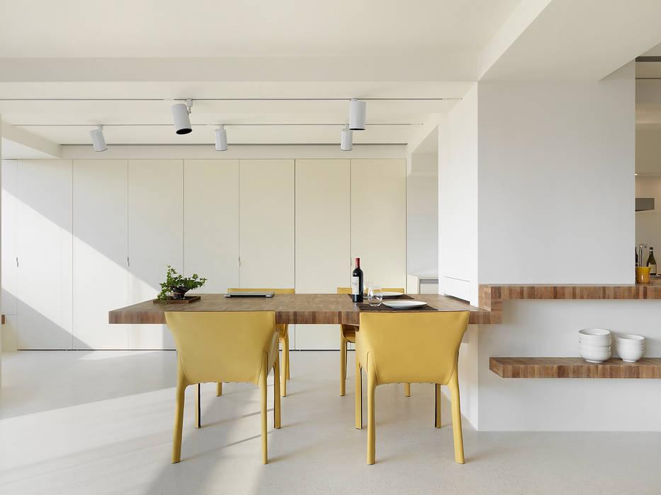 何侯設計 Ho + Hou Studio Architects Minimalist dining room