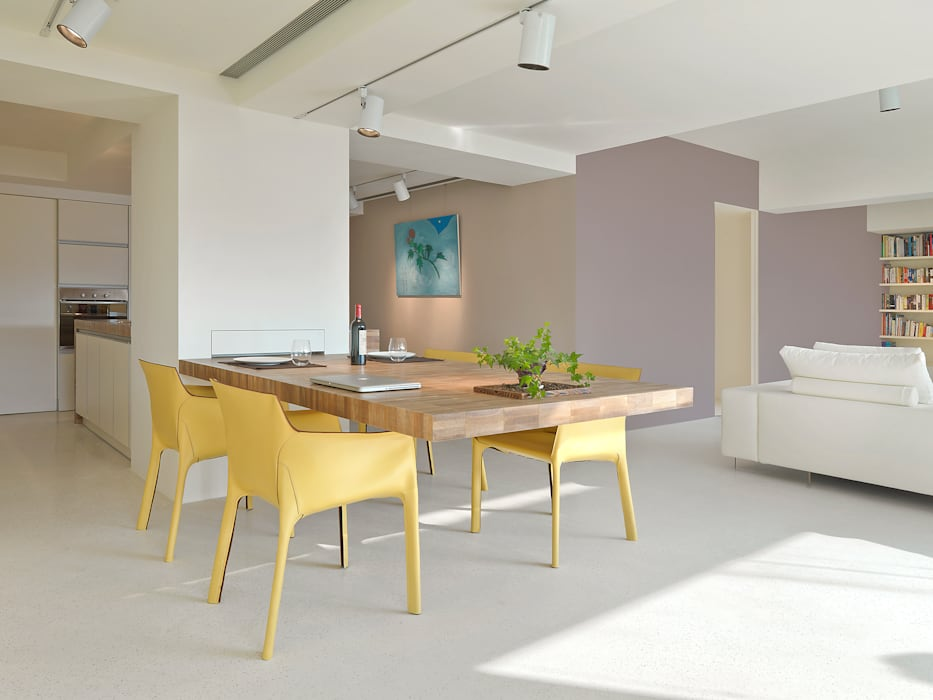 何侯設計 Ho + Hou Studio Architects Sala da pranzo minimalista