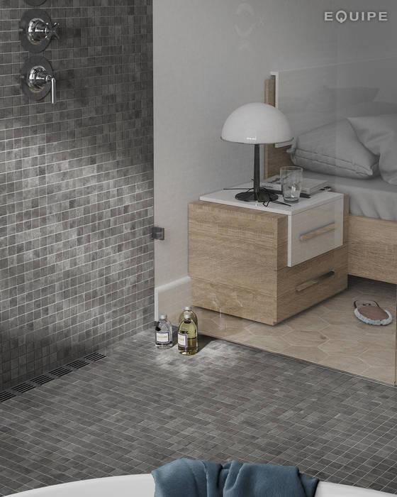 現代浴室設計點子、靈感&圖片 根據 Equipe Ceramicas 現代風 陶器