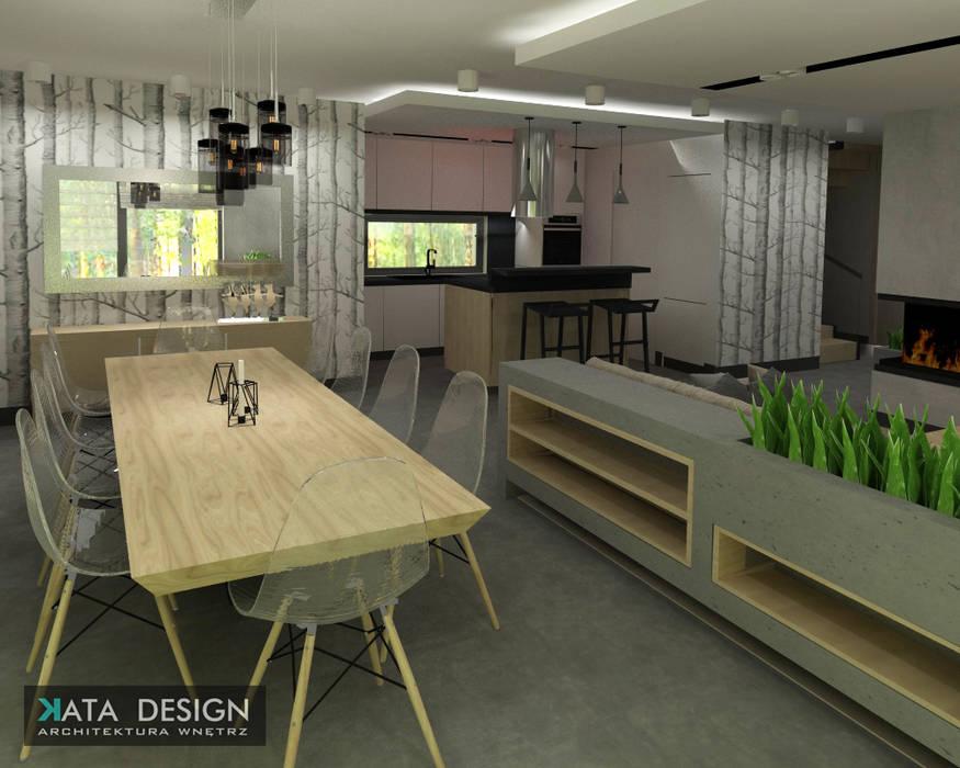 Dom : styl , w kategorii Salon zaprojektowany przez Kata Design