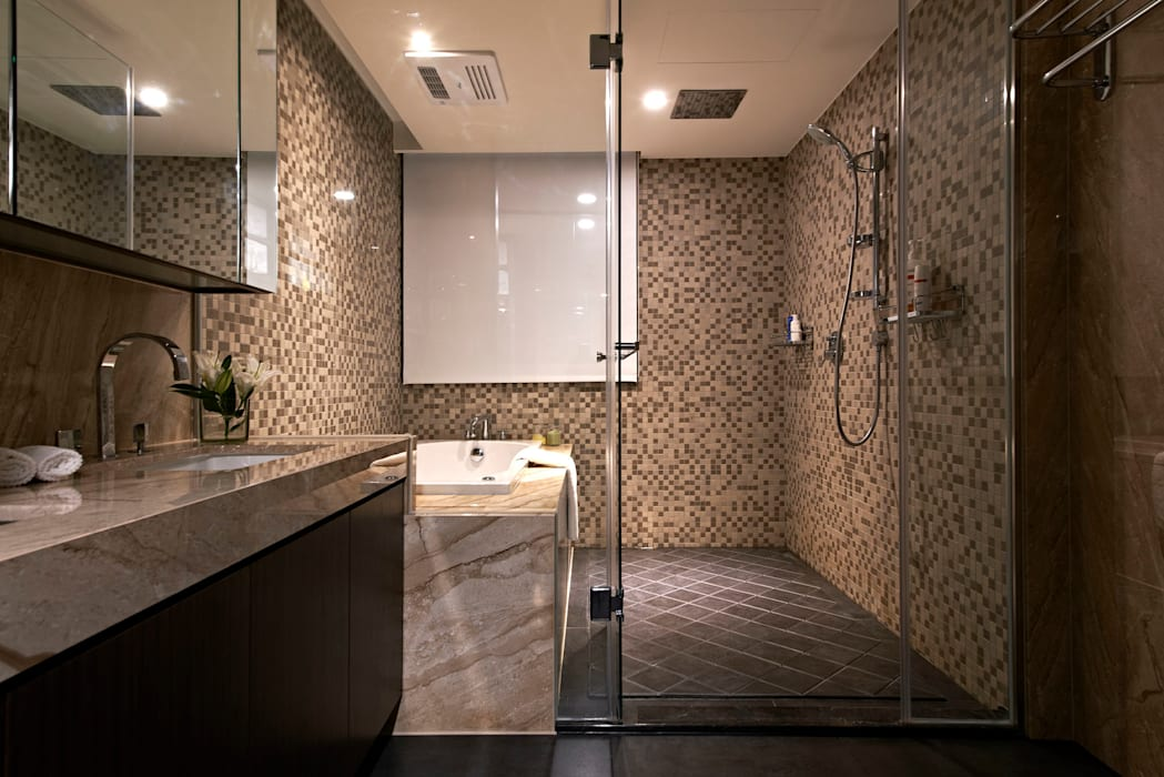 Bathroom 現代浴室設計點子、靈感&圖片 根據 CCL Architects & Planners林祺錦建築師事務所 現代風