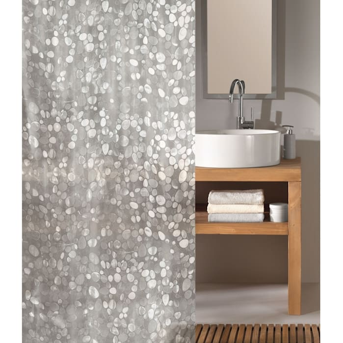 Cristal Clear Shower Curtain de King of Cotton Moderno