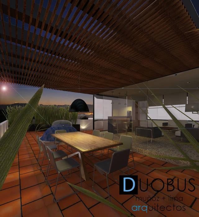sala de descanso roof garden J.I.: Terrazas de estilo  por DUOBUS M + L arquitectos