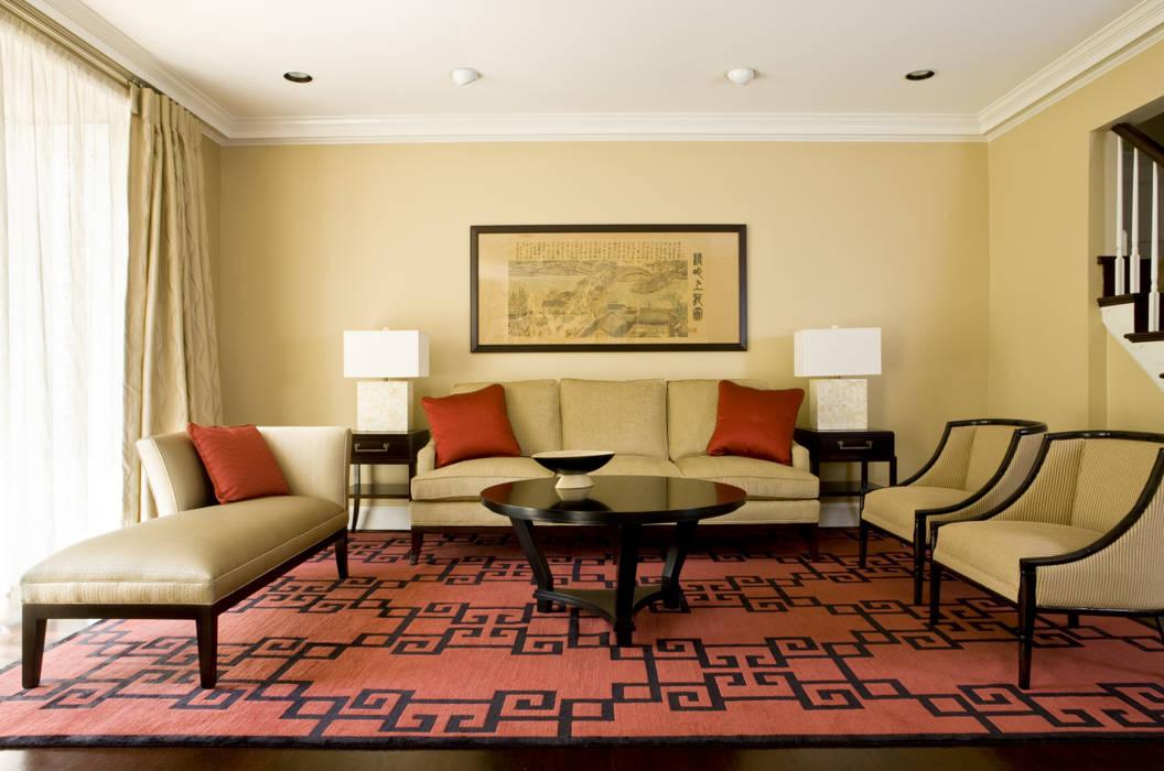 Lorna Gross Interior Design Ruang Keluarga Gaya Asia Red