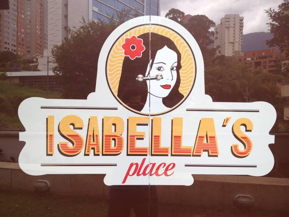 Restaurante _ Isabellas Place: Locales gastronómicos de estilo  por @tresarquitectos
