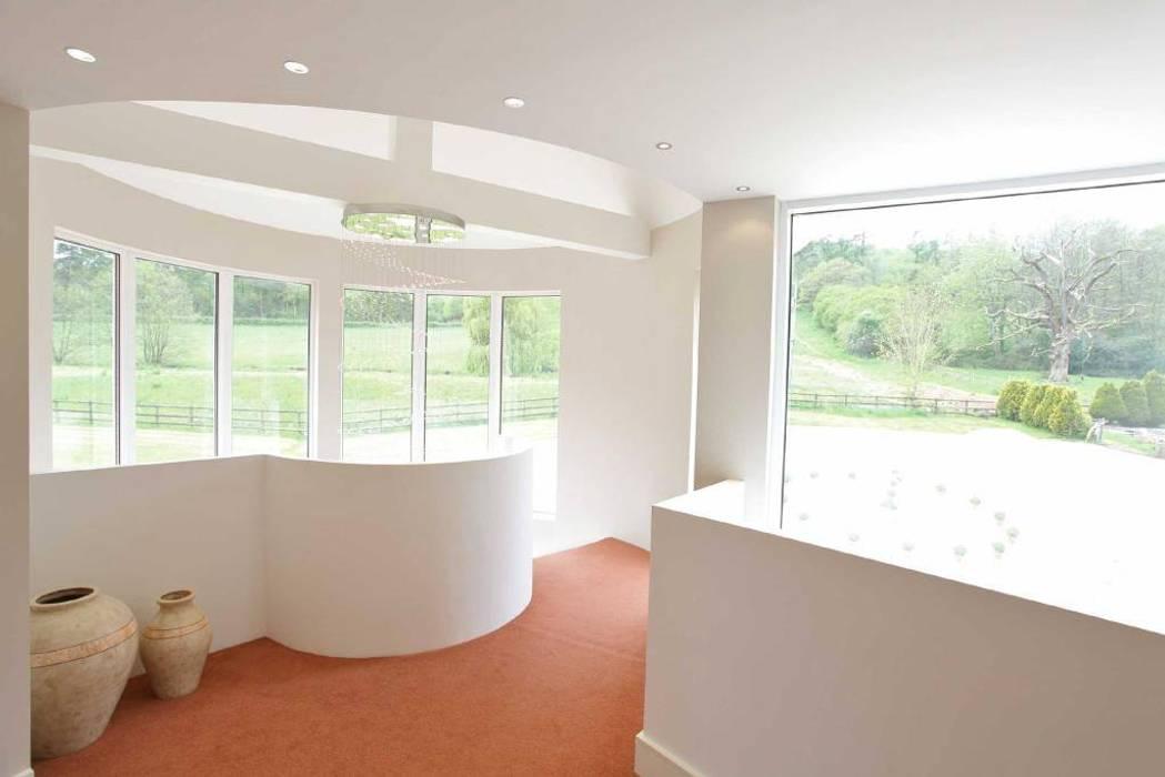 Draethen Farm House Conversion Modern corridor, hallway & stairs by Smarta Modern