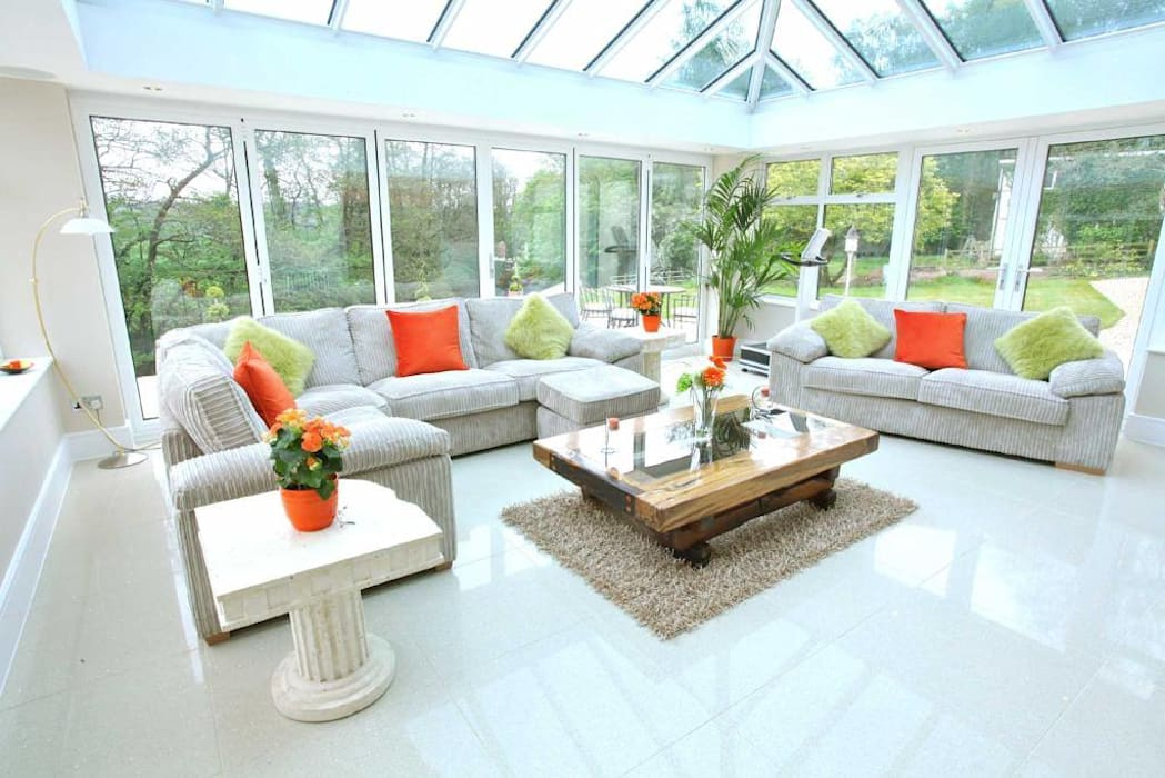 Draethen Farm House Conversion :  Conservatory by Smarta, Modern
