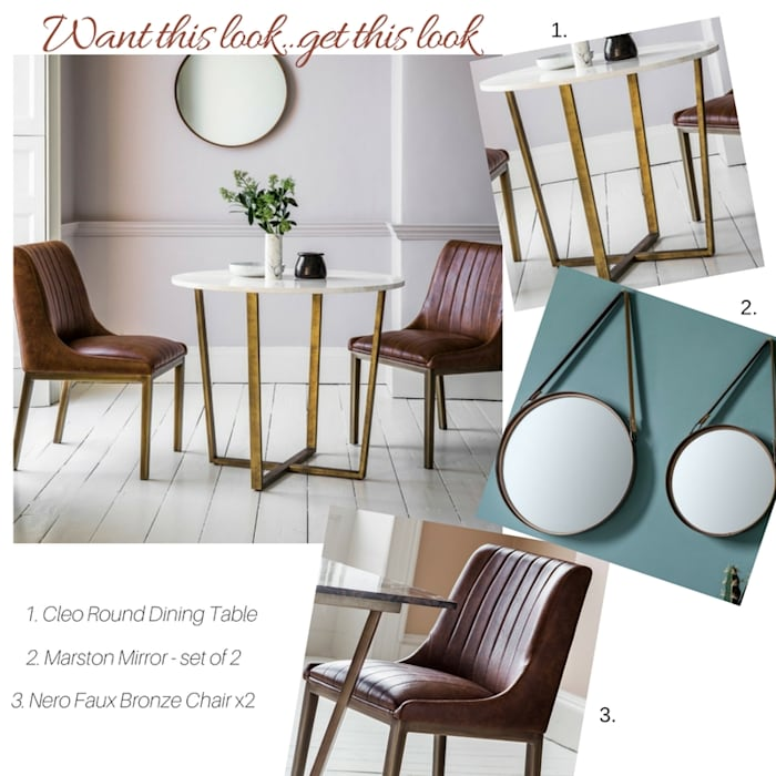Get The Look - Metallic :  Dining room by Style Our Home Ltd