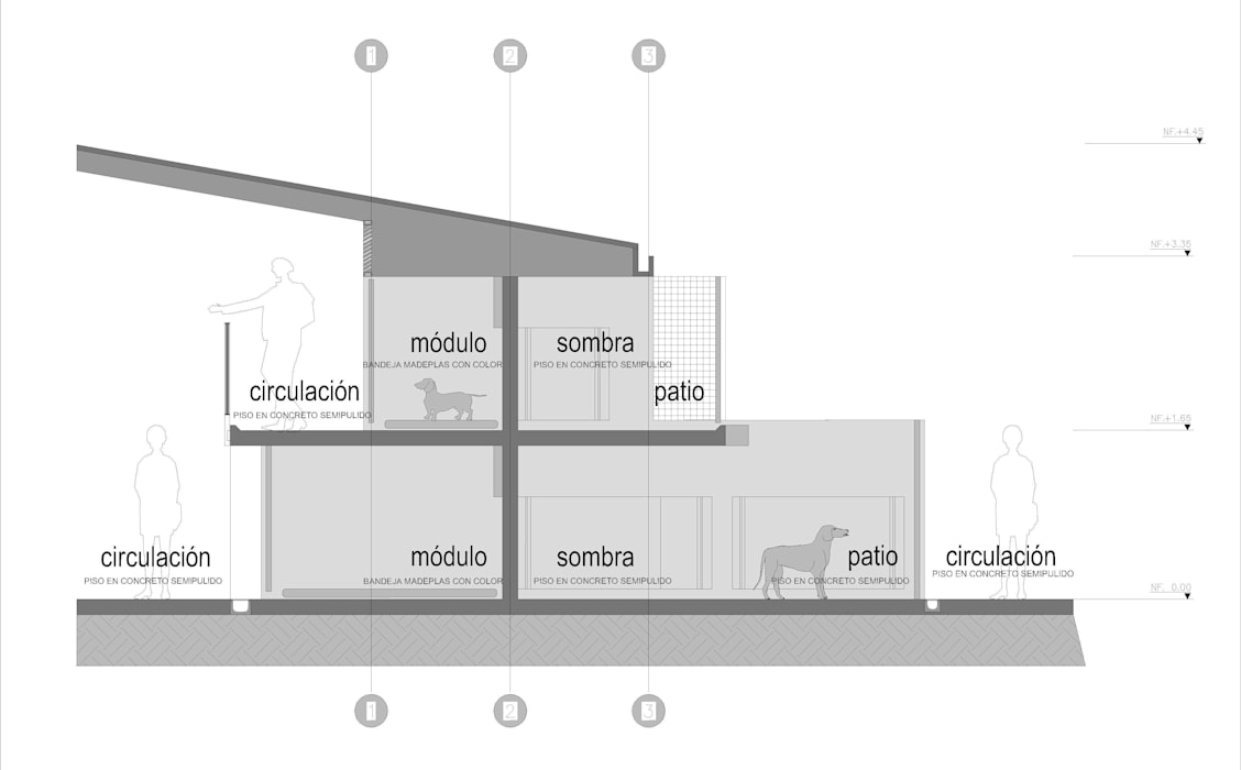Centro de Bienestar Animal [La Perla]: Bodegas de estilo  por @tresarquitectos
