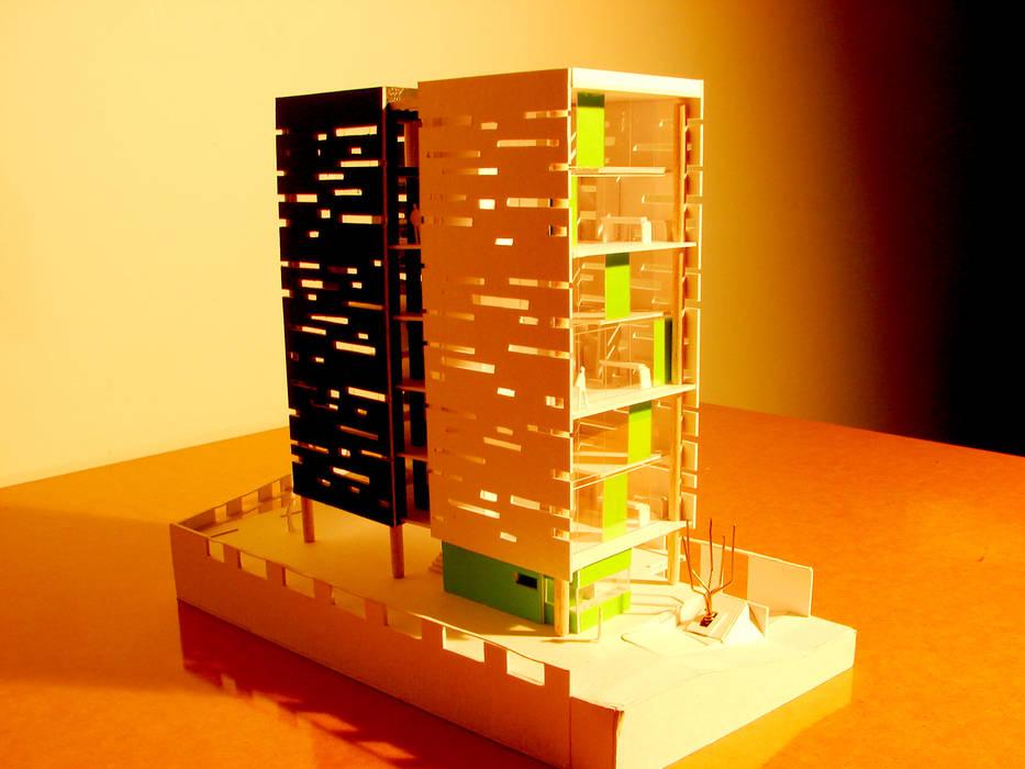 L _ 24 - Sur _ Apartamentos Lofts: Casas de estilo  por @tresarquitectos,