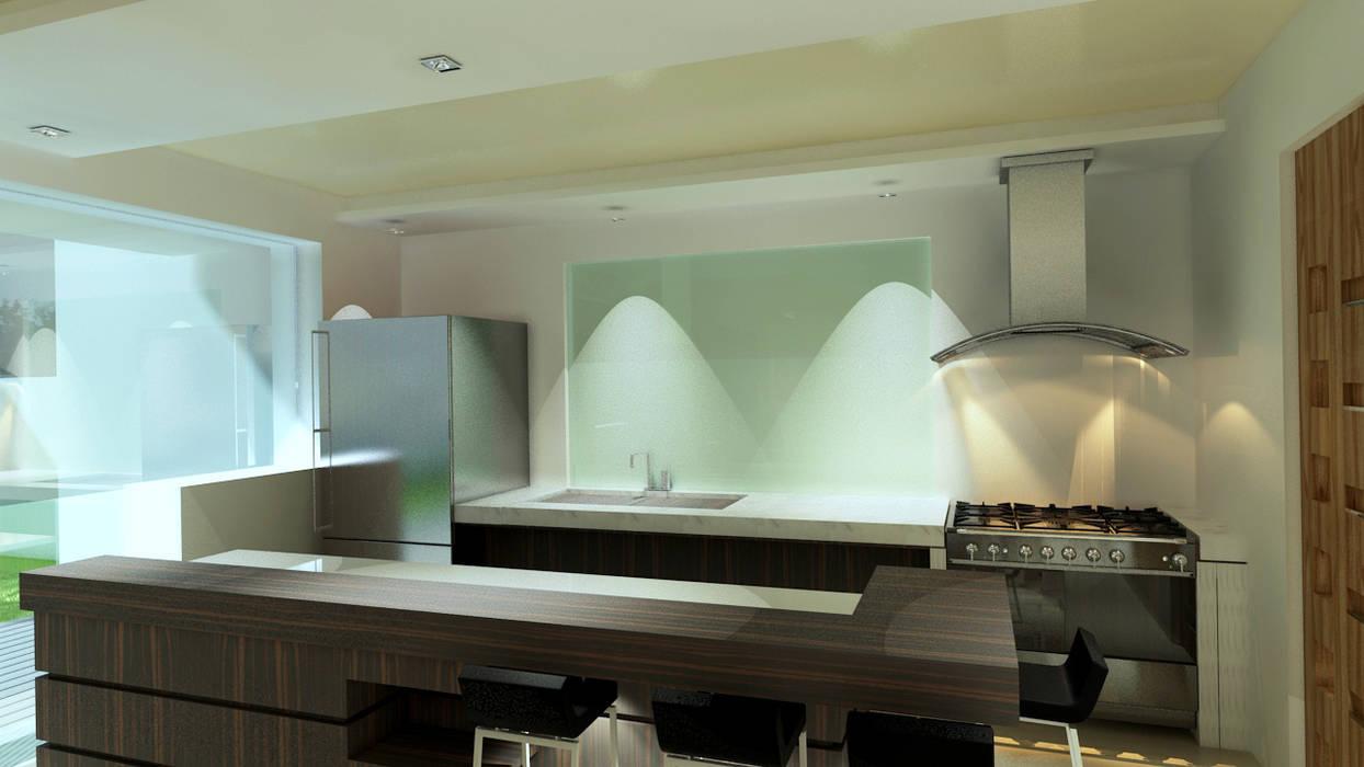 現代廚房設計點子、靈感&圖片 根據 CouturierStudio 現代風