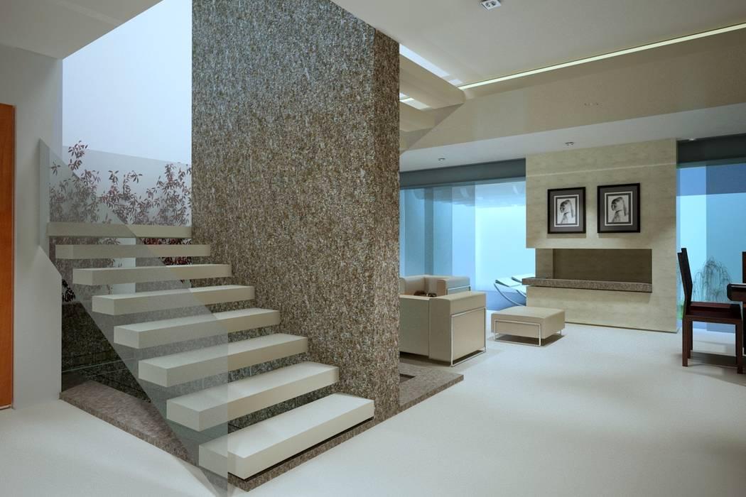 Moderner Flur, Diele & Treppenhaus von CouturierStudio Modern