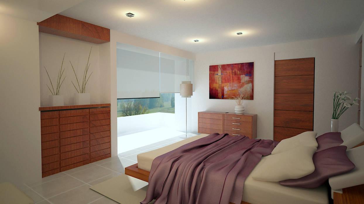 Renders Interiores Dormitorios modernos de CouturierStudio Moderno