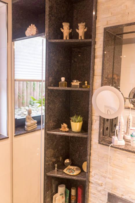 Kundenbad in Bübingen Rustikale Badezimmer von BOOR Bäder, Fliesen, Sanitär Rustikal Granit