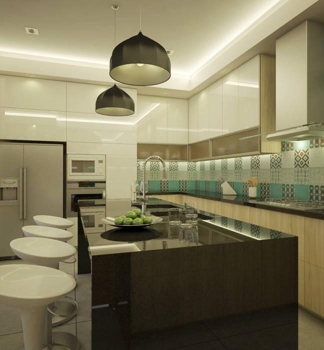 Isla de Cocina Cocinas de estilo moderno de Spacio5 Moderno Granito
