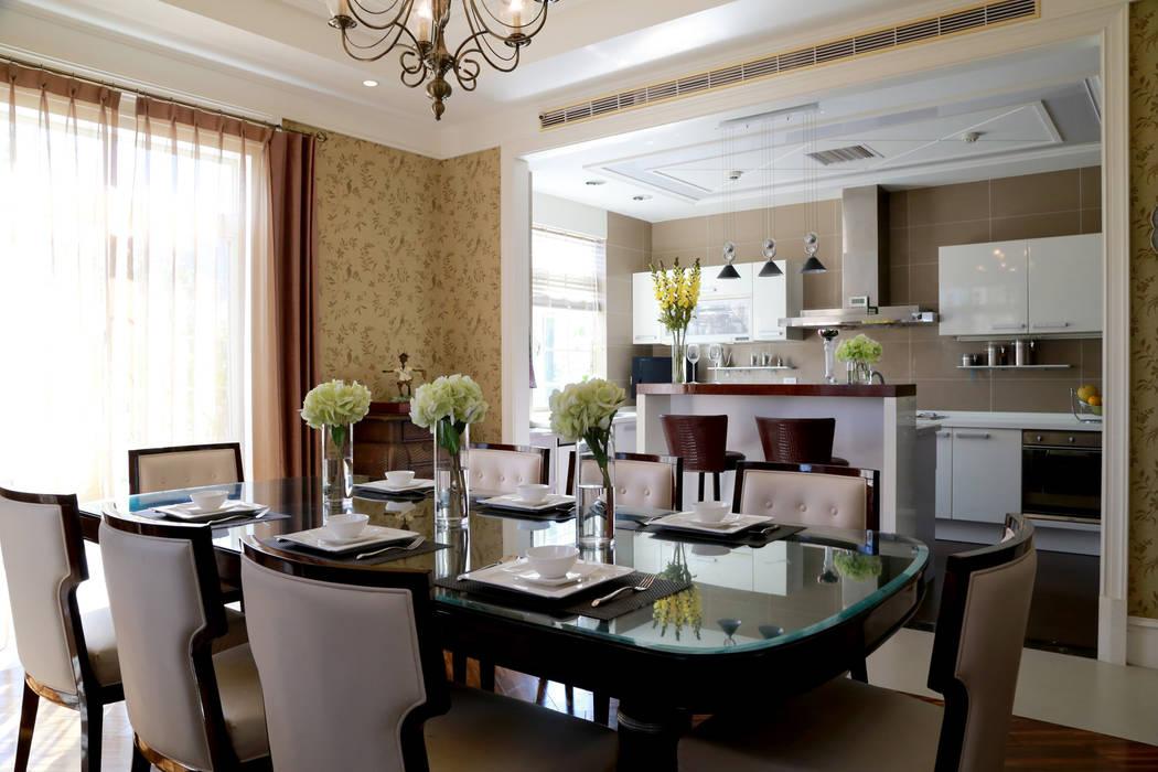 餐廳吧台:  餐廳 by 漢品室內設計