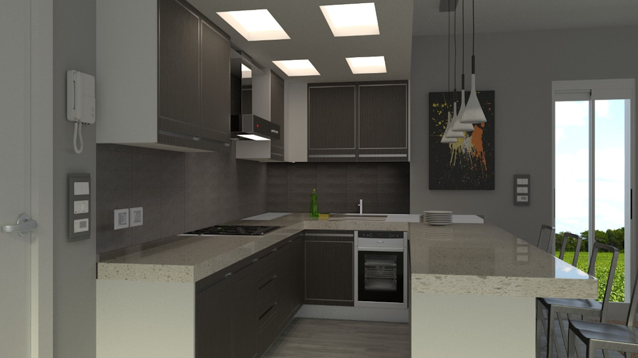 angolo cucina: Cucina in stile in stile Moderno di virtual3dproject