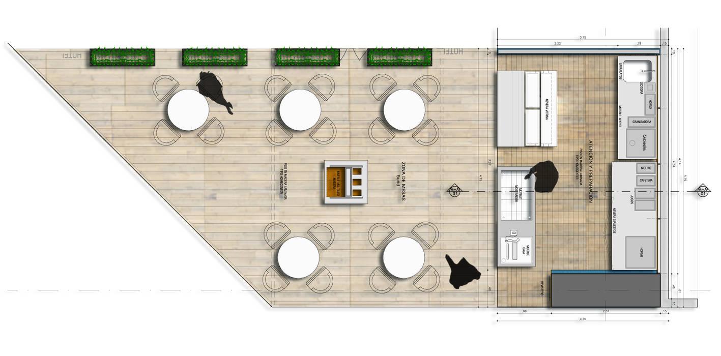 DeLolita City Plaza _ Envigado: Oficinas y Tiendas de estilo  por @tresarquitectos, Clásico