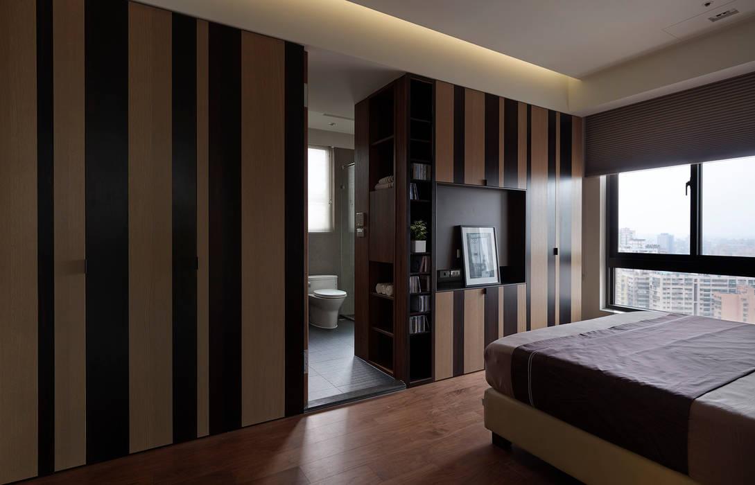 Chambre de style  par 大觀室內設計工程有限公司