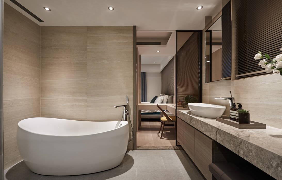 林口楊宅 大觀室內設計工程有限公司 現代浴室設計點子、靈感&圖片