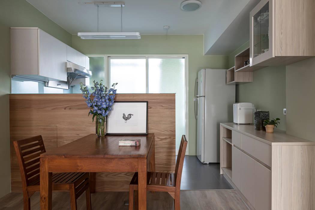 賀澤室內設計 HOZO_interior_design Eclectic style dining room by homify Eclectic