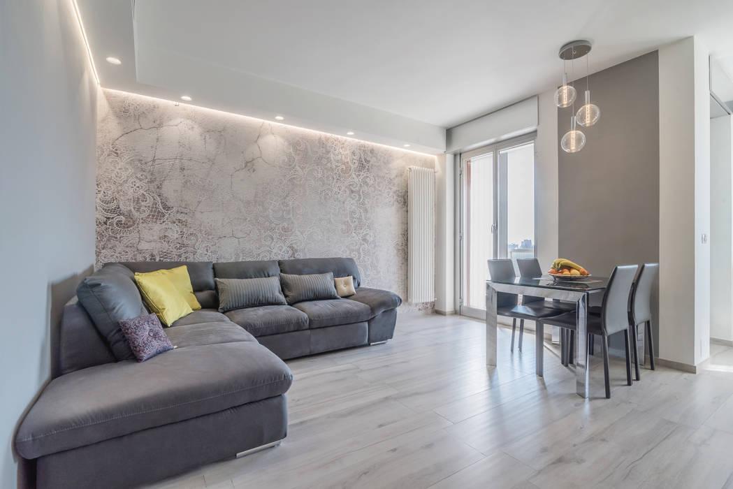Soggiorno open space soggiorno in stile di facile for Soggiorno minimalista