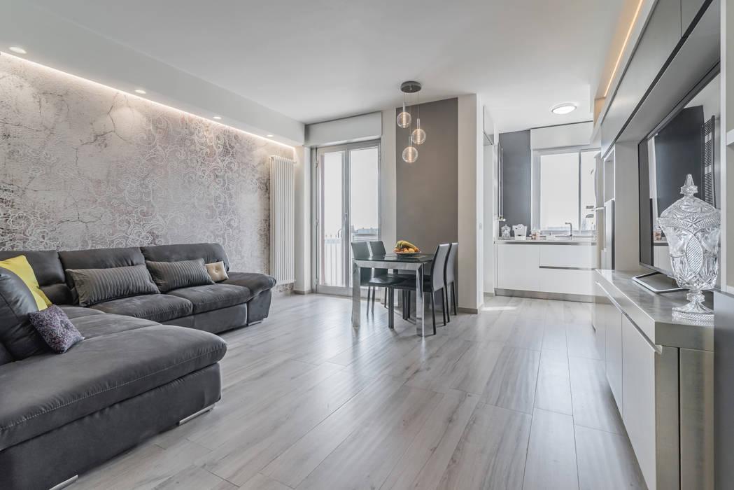 Soggiorno open space soggiorno minimalista di facile for Soggiorno minimalista