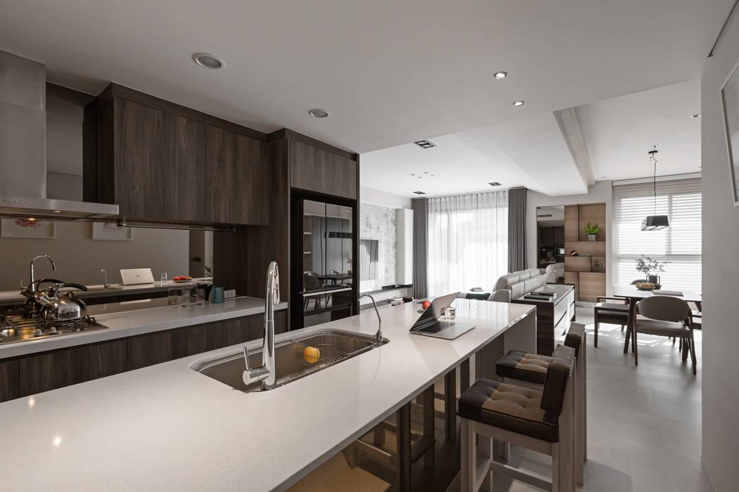 賀澤室內設計 HOZO_interior_design Кухни в эклектичном стиле