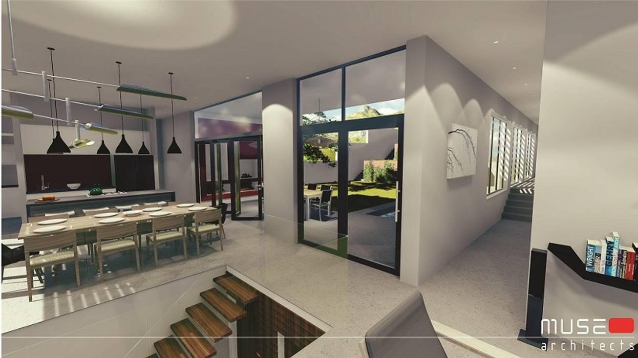 Muse Architects Pasillos, vestíbulos y escaleras modernos