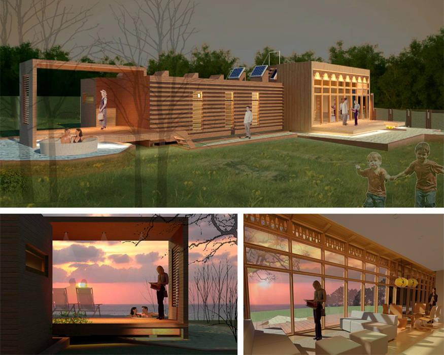 Vivienda unifamiliar Casas estilo moderno: ideas, arquitectura e imágenes de PLANETARK ARQUITECTOS Moderno Madera Acabado en madera