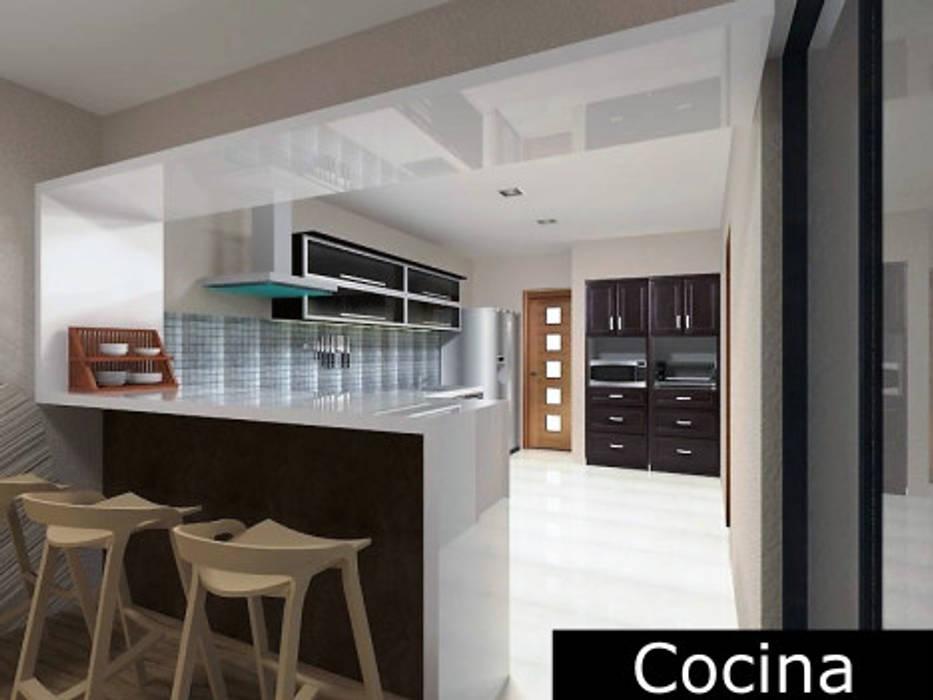 Cocina - area de lavado: Cocinas de estilo minimalista por Ingenieros y Arquitectos Continentes