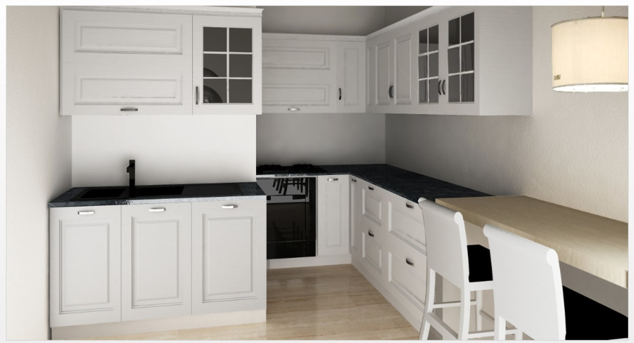 Progetti e idee d\'arredo ambiente cucina: cucina in stile di fidea ...