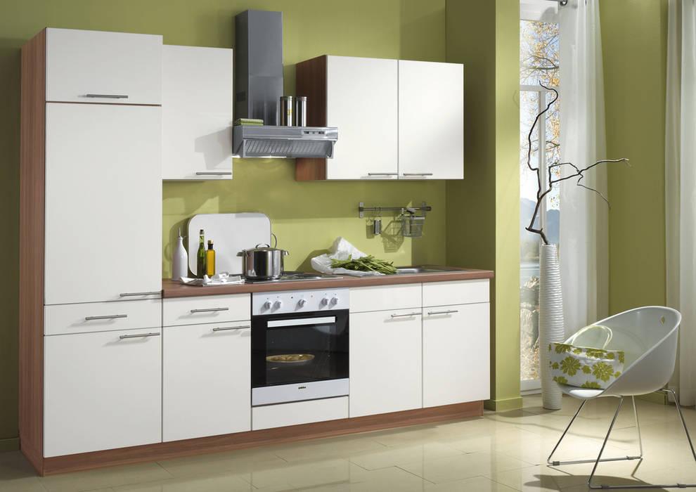Küchengestaltung mit griffen, glastüren, korpusfarbton und ...