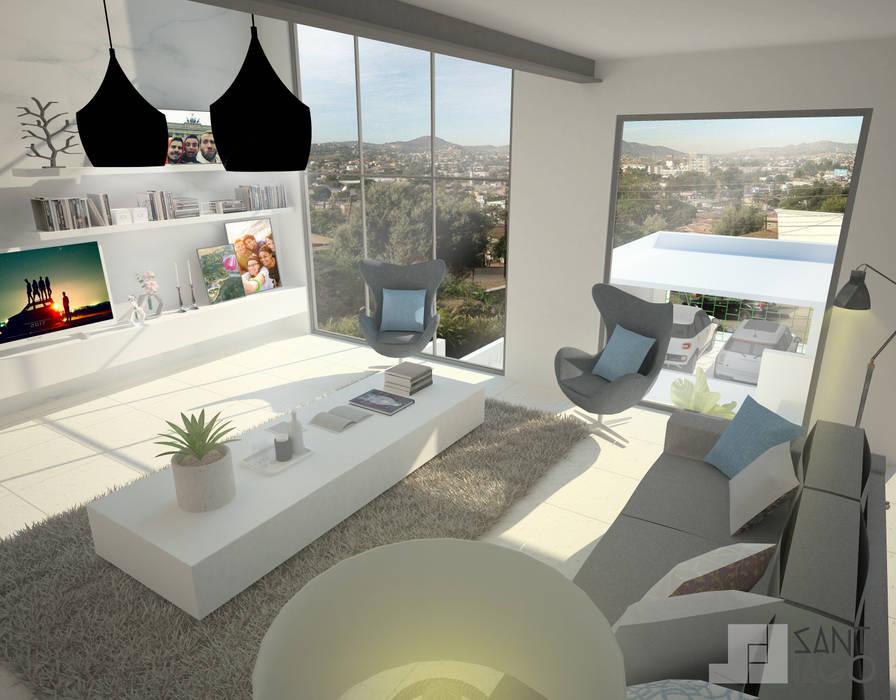 Sala de Estar: Salas de estilo minimalista por SANT1AGO arquitectura y diseño
