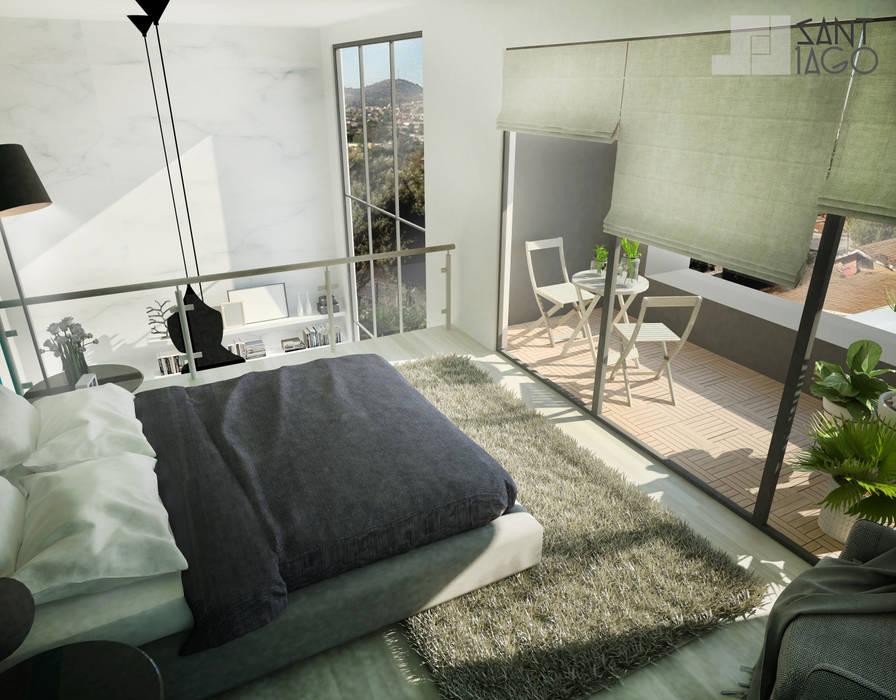 Doble Altura-Recamara Principal Puertas y ventanas minimalistas de SANT1AGO arquitectura y diseño Minimalista Hierro/Acero