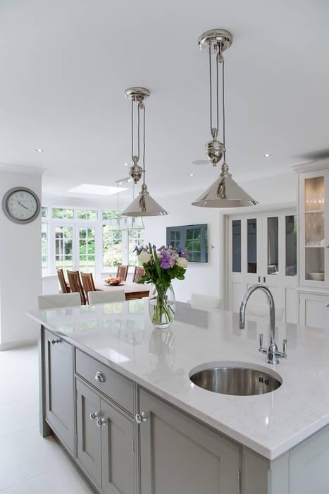 Beautiful bespoke kitchen in Hertfordshire by John Ladbury:  Kitchen by John Ladbury and Company