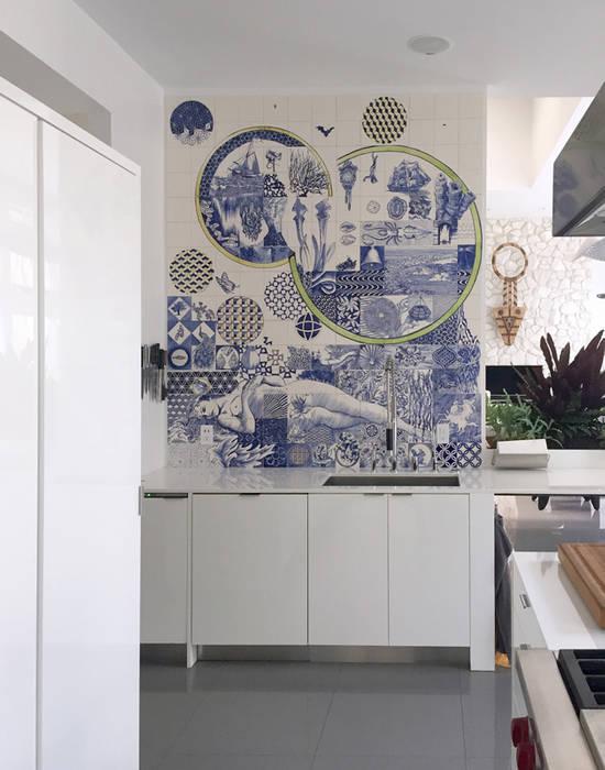 dream José den Hartog Eclectische keukens Tegels Blauw
