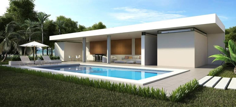 Residencia BGRR Albercas modernas de Valderrábano Arquitectos Moderno