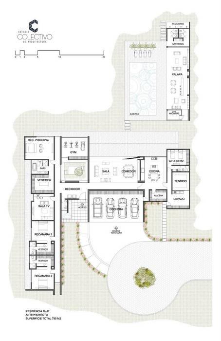 Residencia BGRR Casas modernas de Estudio Colectivo de Arquietctura Moderno
