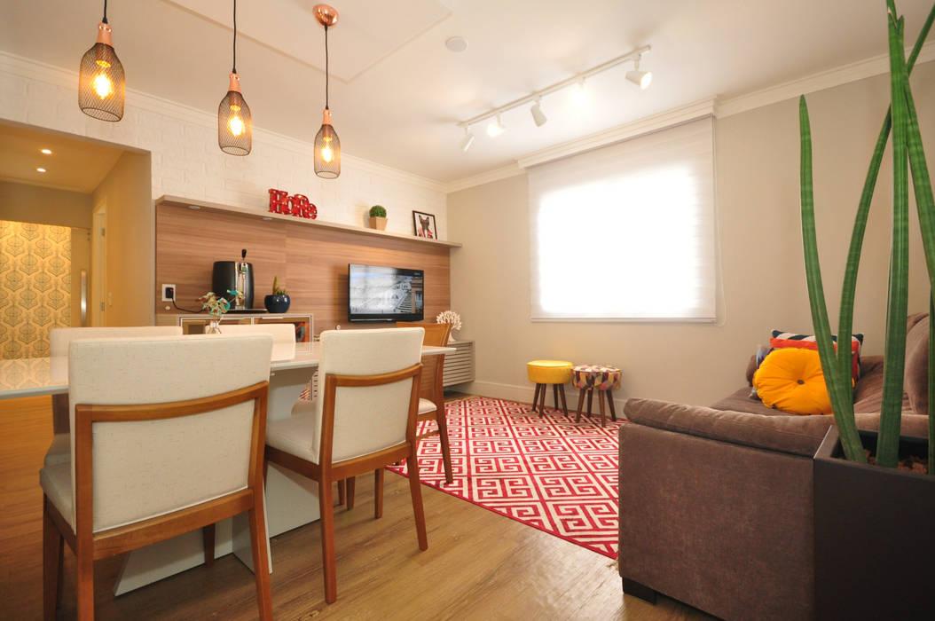 Apartamento Vila Mariana Salas de estar ecléticas por Condecorar Arquitetura e Interiores Eclético