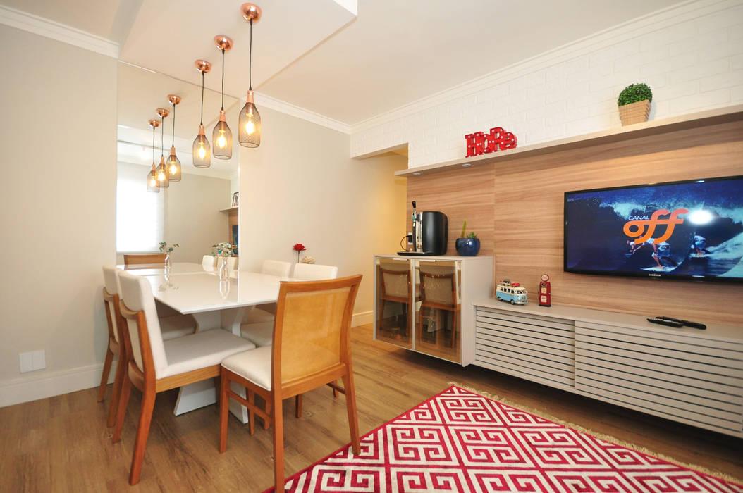 Apartamento Vila Mariana Condecorar Arquitetura e Interiores Salas de jantar ecléticas