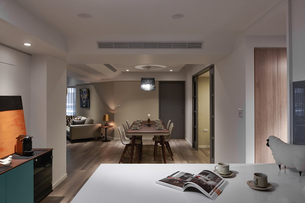 弧 Scandinavian style dining room by 耀昀創意設計有限公司/Alfonso Ideas Scandinavian