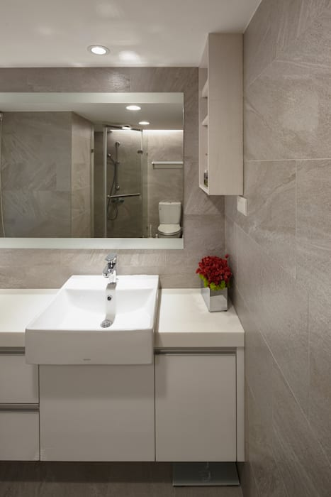 透鏡 Scandinavian style bathroom by 耀昀創意設計有限公司/Alfonso Ideas Scandinavian