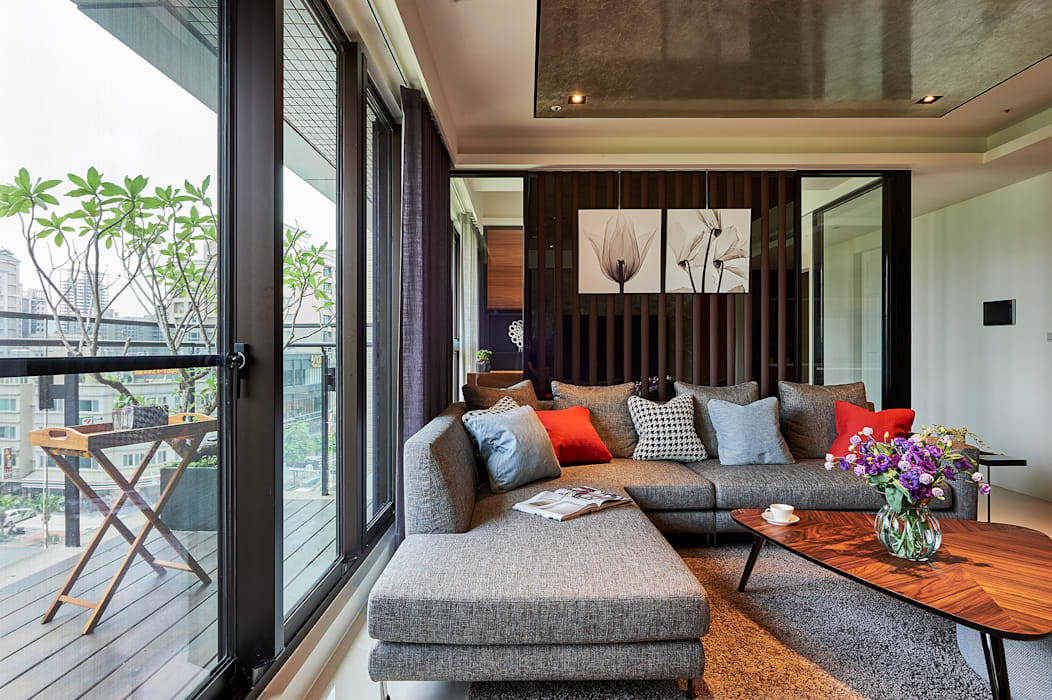 Salas de estar modernas por 舍子美學設計有限公司 Moderno